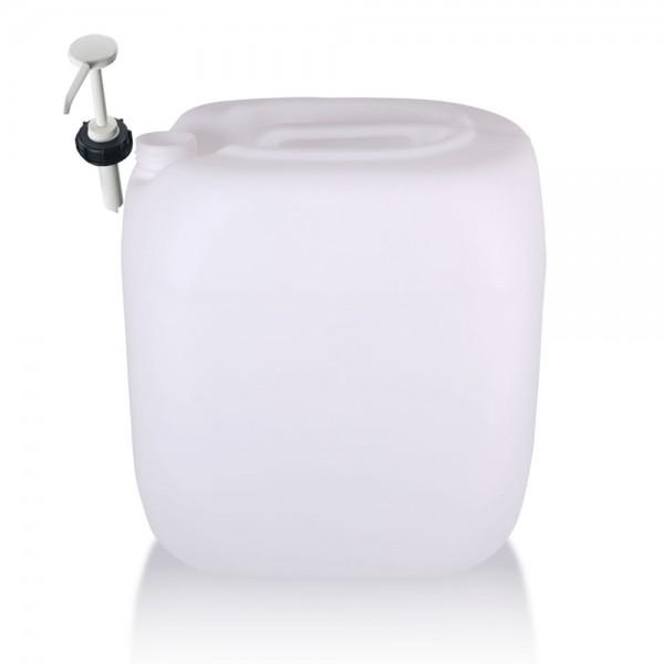 Kunststoff Kanister 30l mit Dosierpumpe, UN-Zulassung