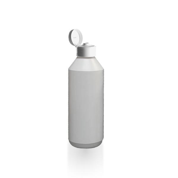Lotionflasche rund 500ml mit Klapp-Tropfverschluss