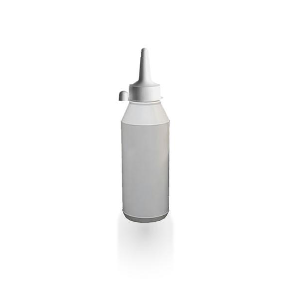 Lotionflasche rund 250ml mit Spritzverschluss mit Kappe