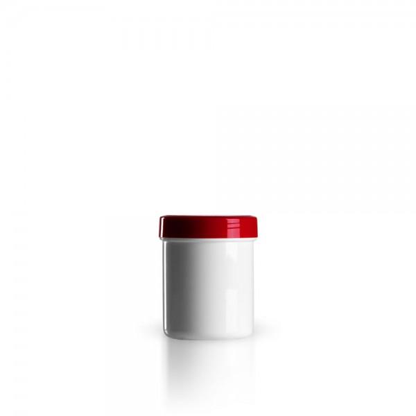 50g - 60ml Salbenkruken mit Deckel rot