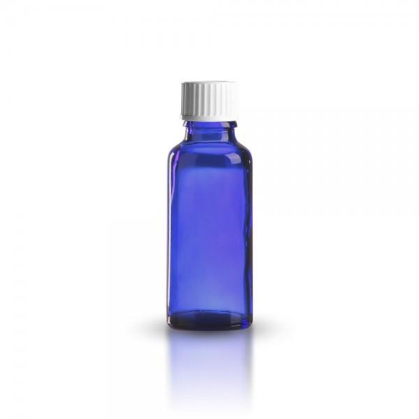 Tropfflasche blau 30ml + Schraubverschluss