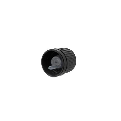 Tropfverschluss 2mm schwarz DIN18 OV