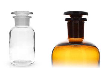 rundschulterflaschen apothekerflaschen mit glasstopfen gt good s trade gmbh. Black Bedroom Furniture Sets. Home Design Ideas