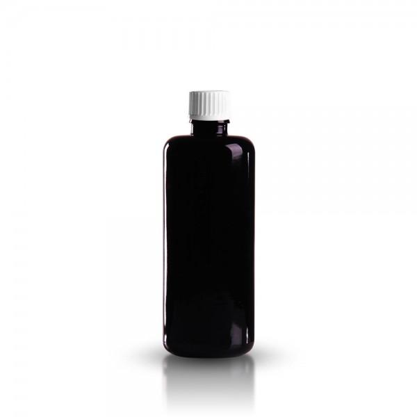 Violette Tropferflasche 100ml + Schraubverschluss