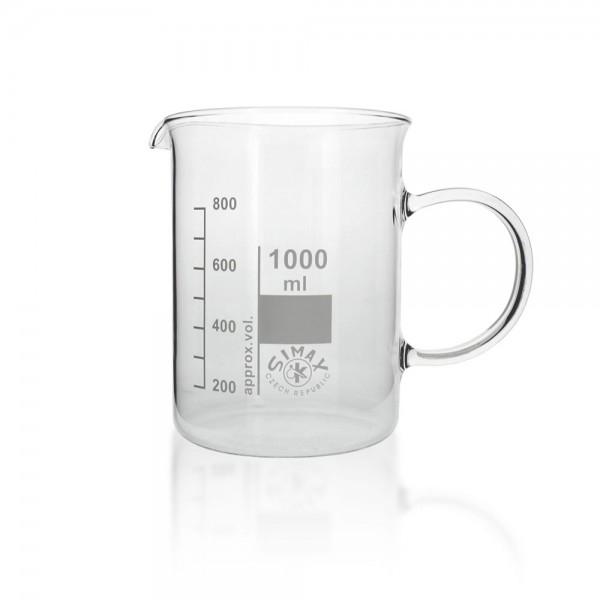 Becherglas mit Henkel 1000ml
