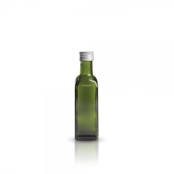 Glasflasche eckig 100 ml