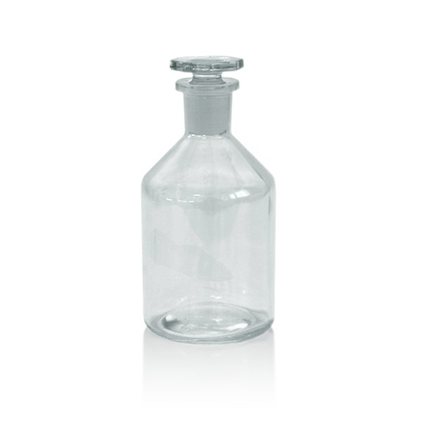 Steilbrustflasche 250ml mit Glasstopfen - Enghals klar