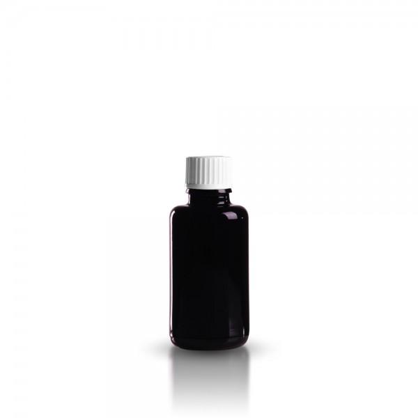 Violettglas Tropfflasche 30ml + Schraubverschluss