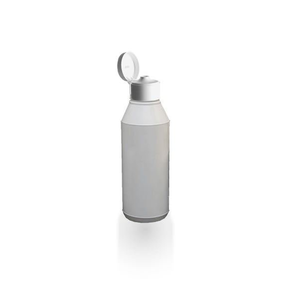 Lotionflasche rund 250ml mit Klapp-Tropfverschluss
