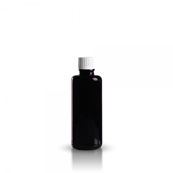 Violette Tropfflasche 50ml + Schraubverschluss
