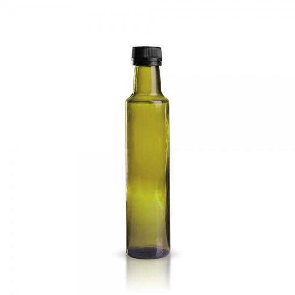 Glasflasche / Ölflasche rund 250ml grün