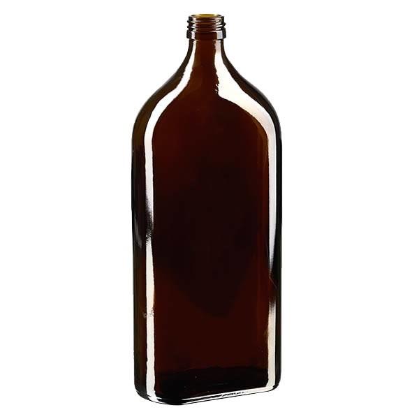 Meplatflasche braun 1000ml DIN28