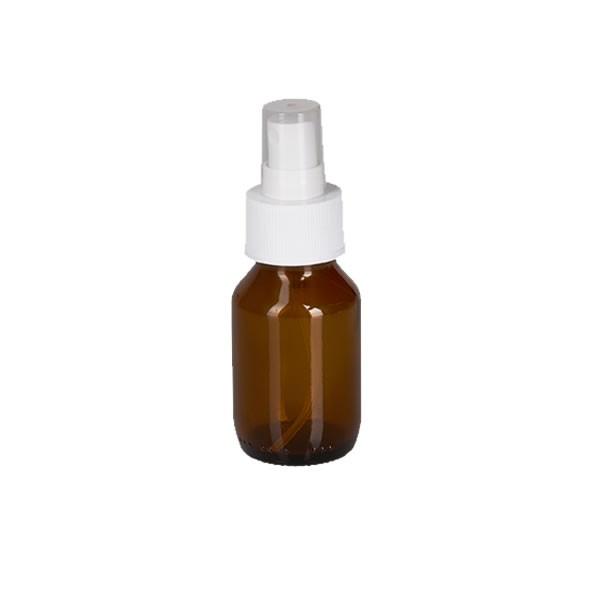 50ml Euro-Medizinflasche mit Zerstäuber weiß