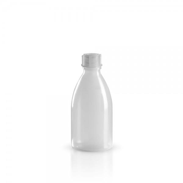 PE Laborflasche Enghals 100ml + Schraubverschluss