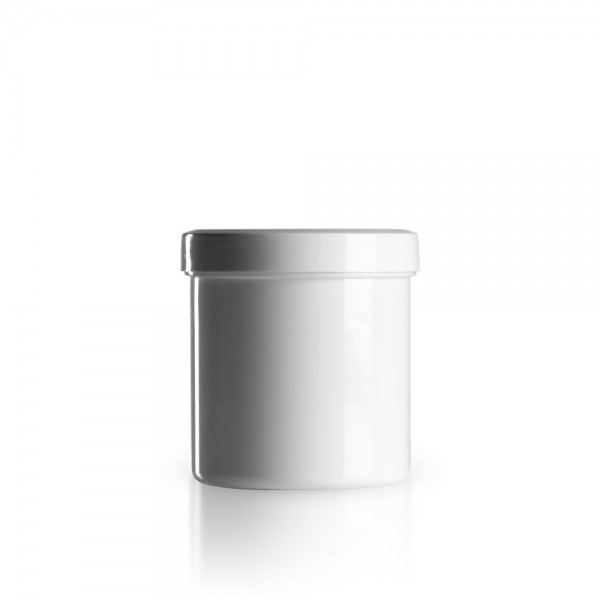 200g - 250ml Salbenkruken mit Deckel weiß