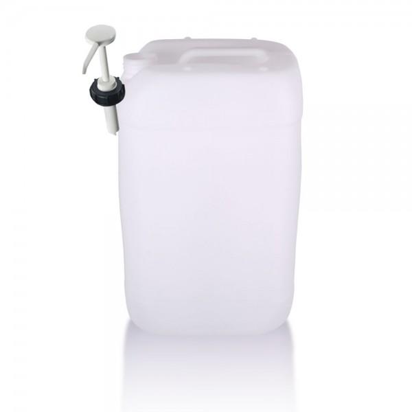 Kunststoff Kanister 25l mit Dosierpumpe, UN-Zulassung