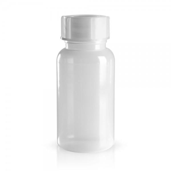 PE Laborflasche Weithals 1000ml + Schraubverschluss