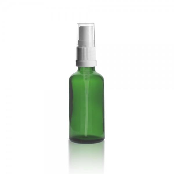 Grüne 50ml Tropfflasche + Pumpverschluss