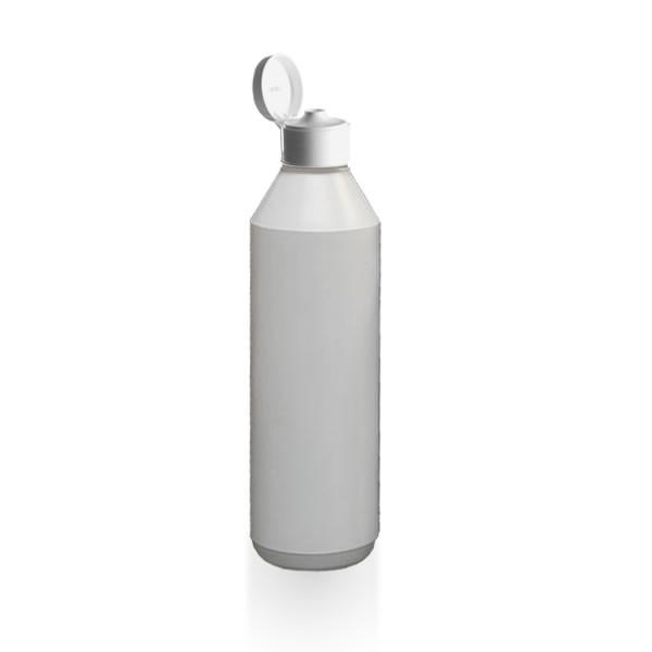Lotionflasche rund 1000ml mit Klapp-Tropfverschluss