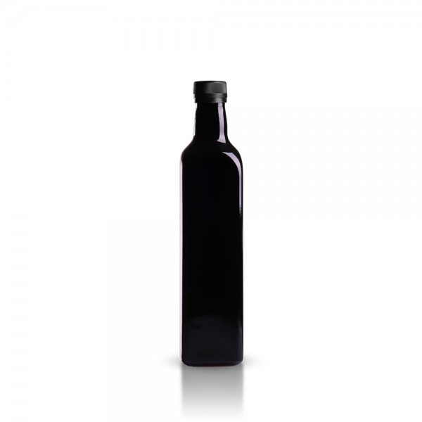 eckige 500 ml lflasche aus violettglas gt good s trade gmbh. Black Bedroom Furniture Sets. Home Design Ideas