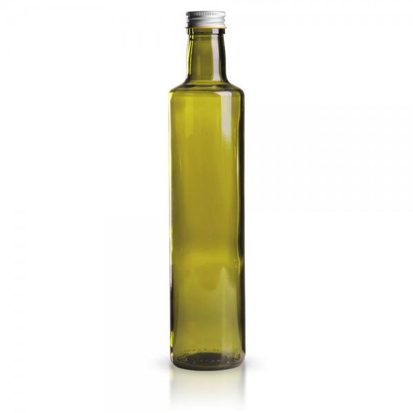 Glasflasche rund 500 ml grün