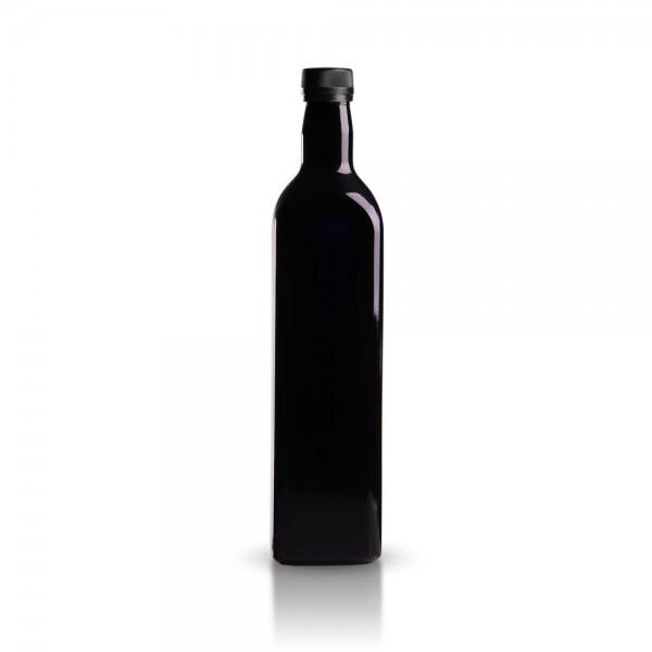 Glasflasche eckig 750 ml violett