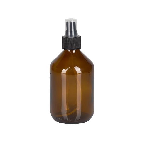 300ml Euro-Medizinflasche mit Zerstäuber schwarz