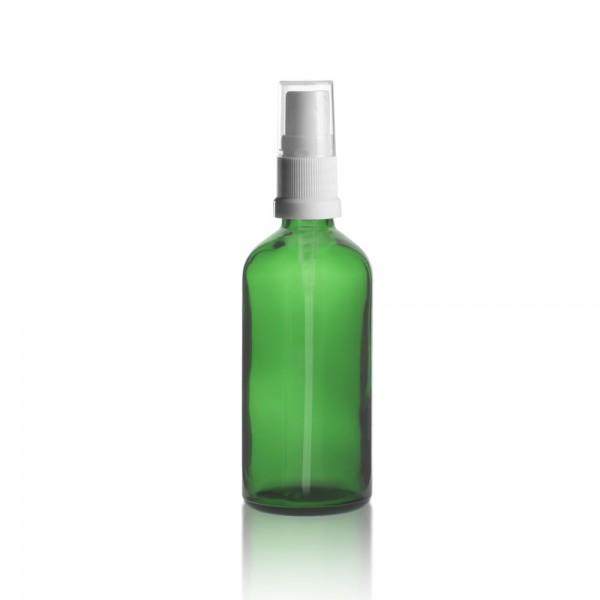 Grüne 100ml Tropfflasche + Pumpverschluss