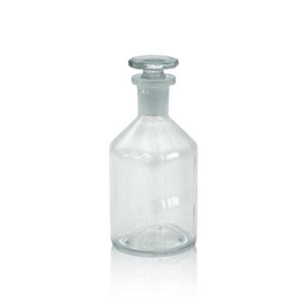 Steilbrustflasche 100ml mit Glasstopfen - Enghals klar