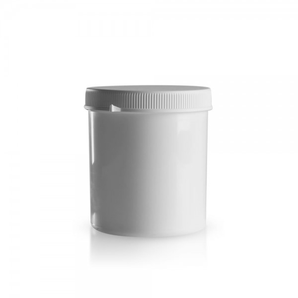 750ml Schraubdose mit Originalitätsverschluss weiß