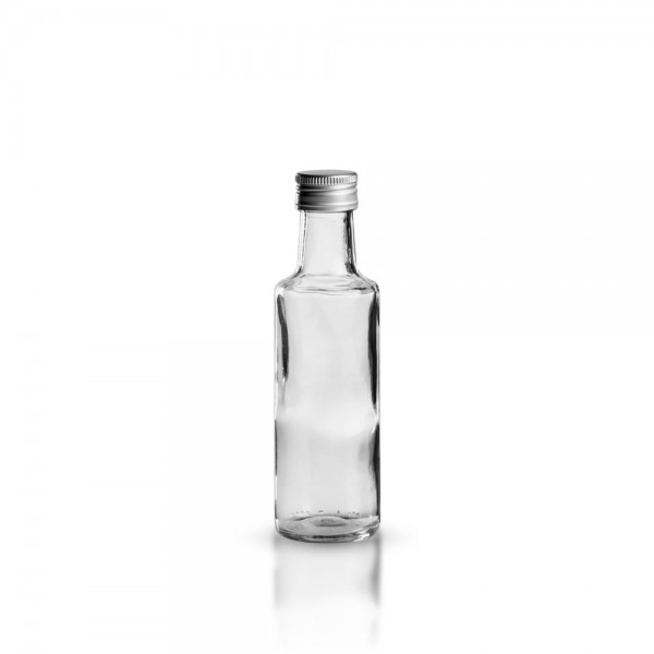 Glasflasche / Ölflasche rund 100ml klar