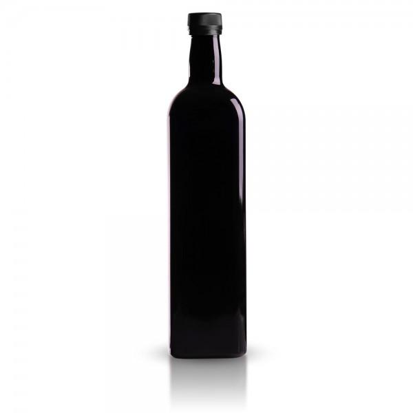 Glasflasche eckig 1000 ml