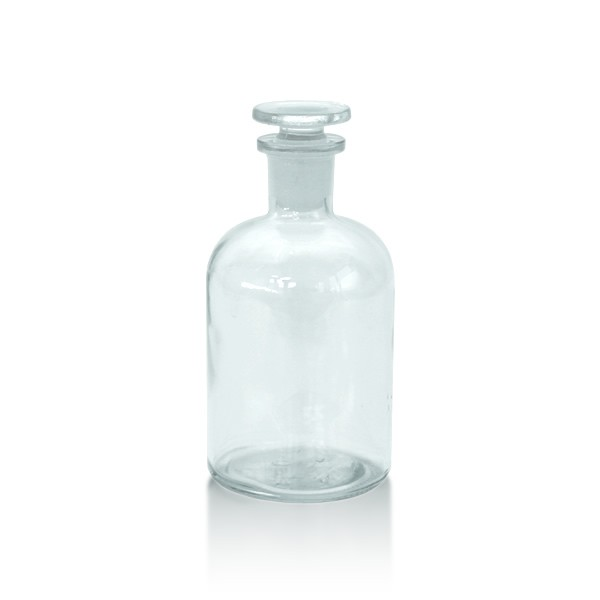 Apothekerflasche 250 ml mit Glasstopfen - Enghals klar