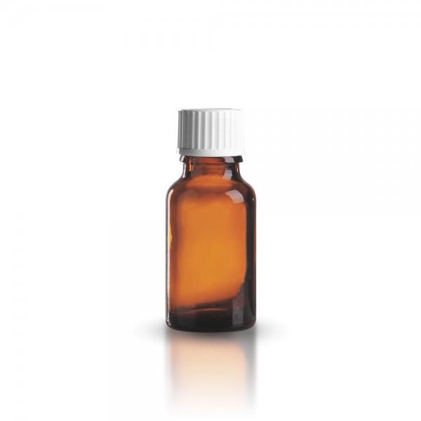 Braune Tropfflasche 15 ml + Schraubverschluss